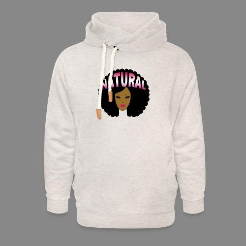 Natural Afro (Pink) - Unisex Shawl Collar Hoodie