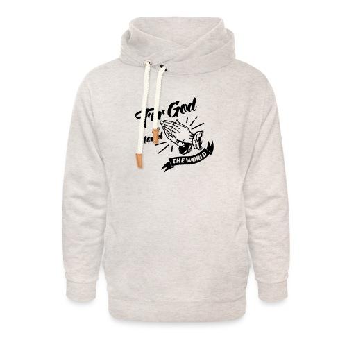For God So Loved The World… - Alt. Design (Black) - Unisex Shawl Collar Hoodie