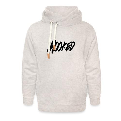 Hooked black logo - Unisex Shawl Collar Hoodie