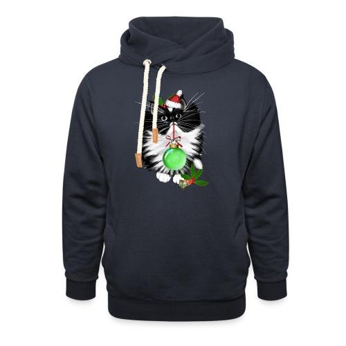A Tuxedo Merry Christmas - Unisex Shawl Collar Hoodie