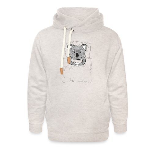 Print With Koala Lying In A Bed - Unisex Shawl Collar Hoodie