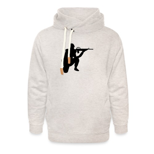 Infantry at ready for action. - Unisex Shawl Collar Hoodie