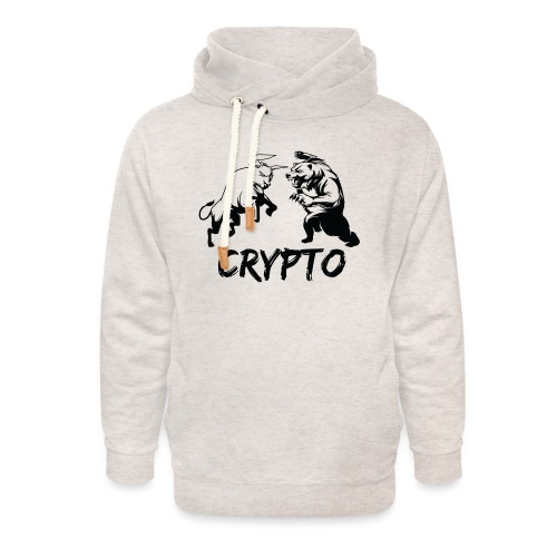 CryptoBattle Black - Unisex Shawl Collar Hoodie