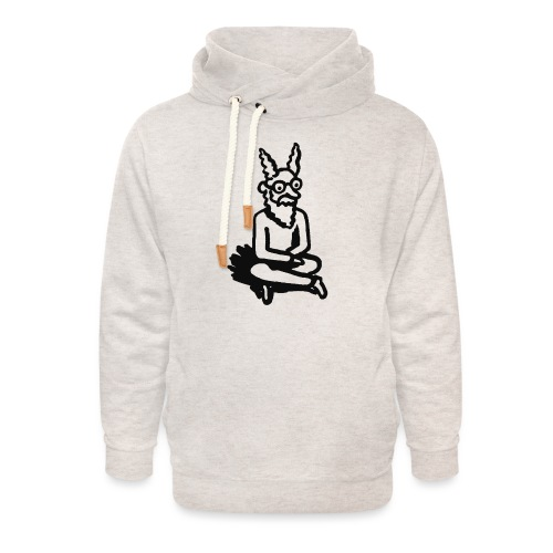 The Zen of Nimbus t-shirt / Black and white design - Unisex Shawl Collar Hoodie