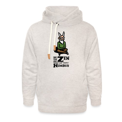 Nimbus character in color and logo vertical - Unisex Shawl Collar Hoodie