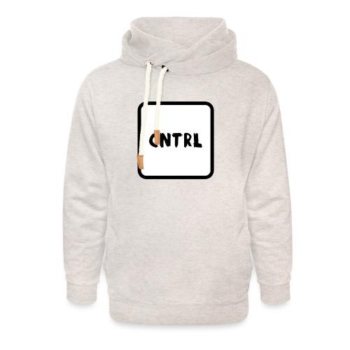 White CNTRL Logo - Unisex Shawl Collar Hoodie