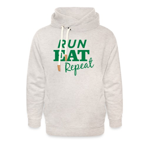 Run Eat Repeat buttons medium - Unisex Shawl Collar Hoodie