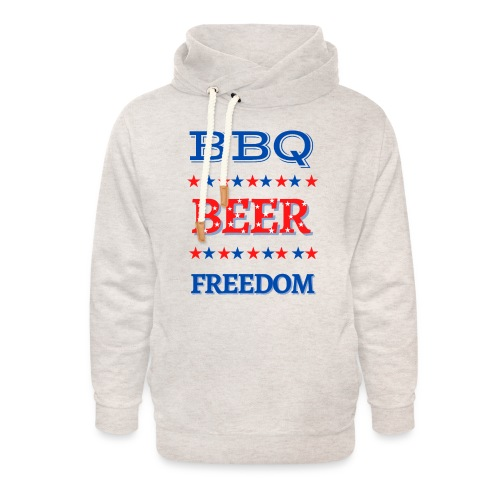 BBQ BEER FREEDOM - Unisex Shawl Collar Hoodie