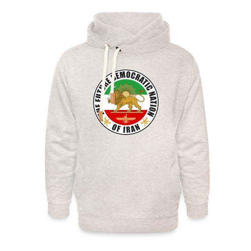 Iran Emblem Old Flag With Lion - Unisex Shawl Collar Hoodie