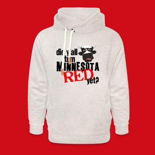 Turn Minnesota Red - Unisex Shawl Collar Hoodie