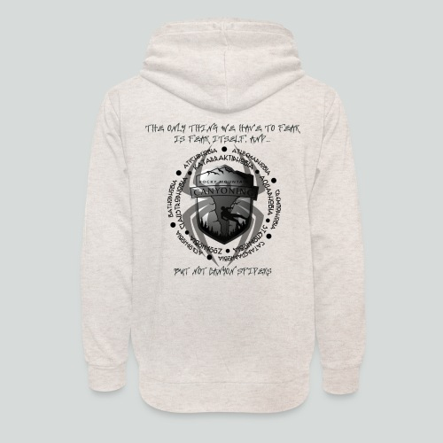 THE ONLY THING TO FEAR-on light back- 2 sided - Unisex Shawl Collar Hoodie