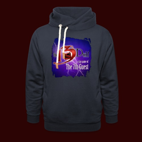 The 13th Doll Logo With Lightning - Shawl Collar Hoodie