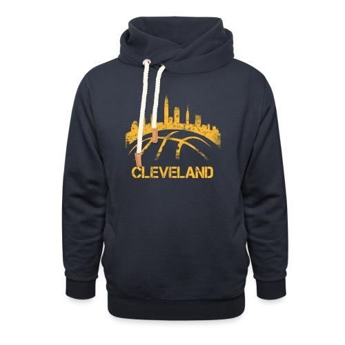 Cleveland Basketball Skyline - Unisex Shawl Collar Hoodie