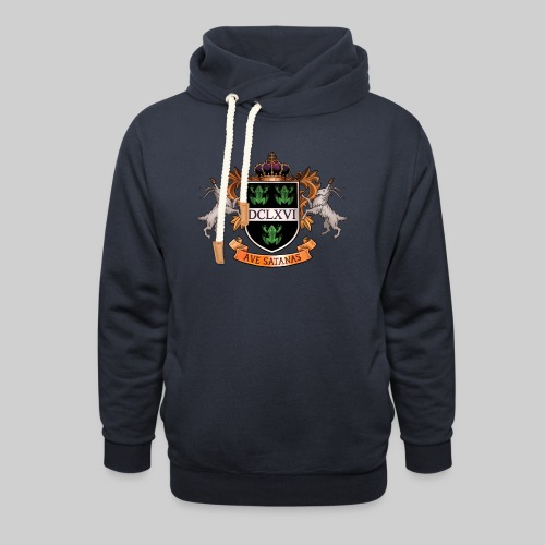 Satanic Heraldry - Coat of Arms - Shawl Collar Hoodie