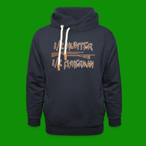 1/2 Hunter 1/2 Fisherman - Unisex Shawl Collar Hoodie