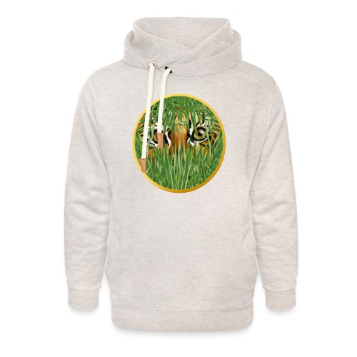 Tiger In The Grass - Unisex Shawl Collar Hoodie