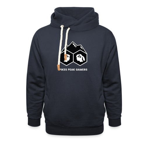Pikes Peak Gamers Logo (Solid Black) - Shawl Collar Hoodie