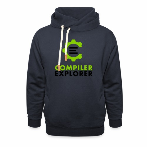 Logo and text - Unisex Shawl Collar Hoodie