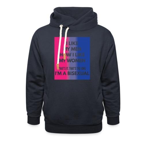 Bisexual - Bi - LGBT - Gay Pride - Gift - Shawl Collar Hoodie