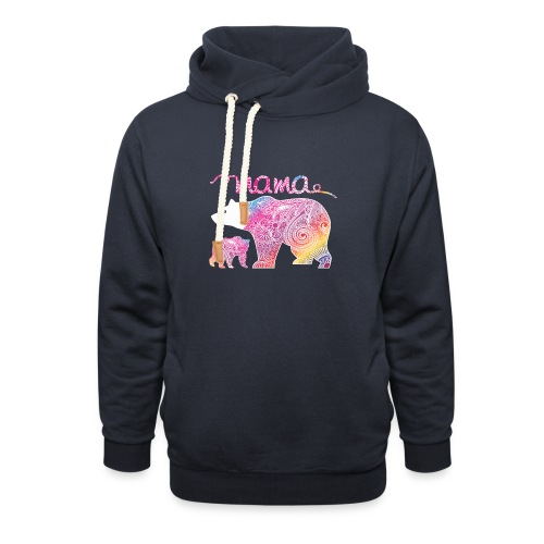 Mama Bear, Mommy Bear, Mother Bear, Mummy Bear - Shawl Collar Hoodie