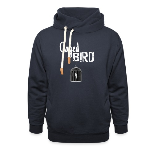 Caged Bird Abstract Design - Shawl Collar Hoodie