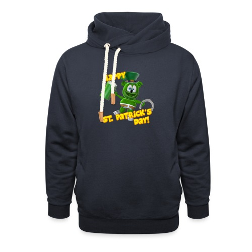 Gummibär (The Gummy Bear) Saint Patrick's Day - Unisex Shawl Collar Hoodie