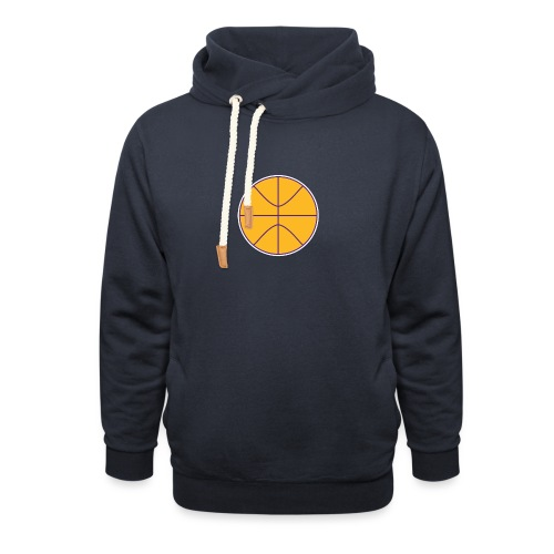 Basketball purple and gold - Unisex Shawl Collar Hoodie
