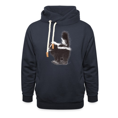 Cool cute funny Skunk - Unisex Shawl Collar Hoodie