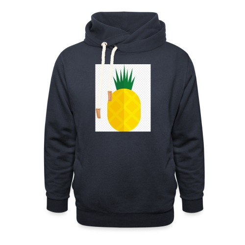 Pixel looking Pineapple - Unisex Shawl Collar Hoodie