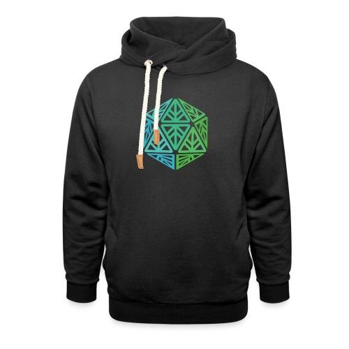 Green Leaf Geek Iconic Logo - Shawl Collar Hoodie