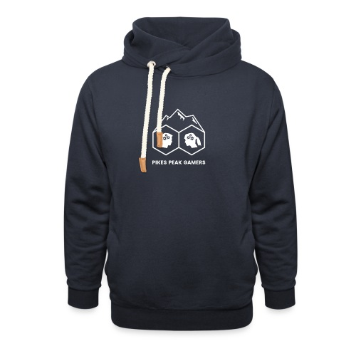 Pikes Peak Gamers Logo (Transparent White) - Shawl Collar Hoodie