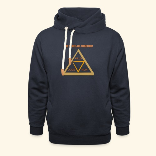 Run4Dogs Triangle - Unisex Shawl Collar Hoodie
