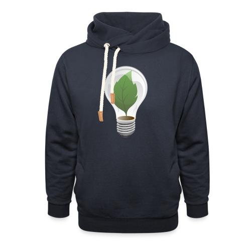 Clean Energy Green Leaf Illustration - Shawl Collar Hoodie