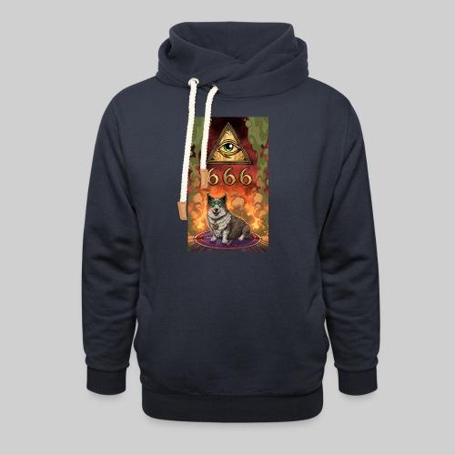 Satanic Corgi - Unisex Shawl Collar Hoodie