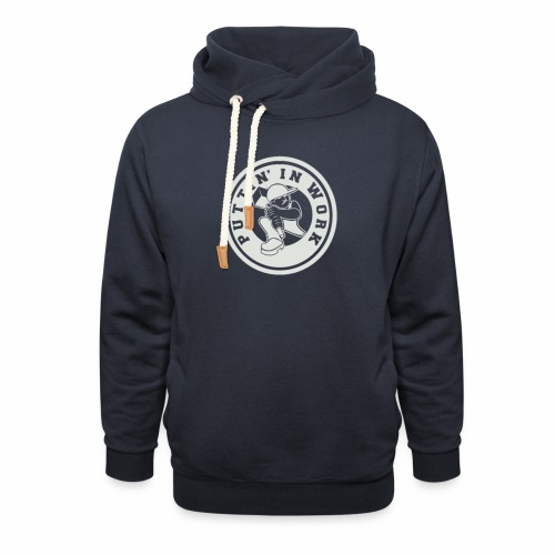 P.I.W White Logo - Shawl Collar Hoodie