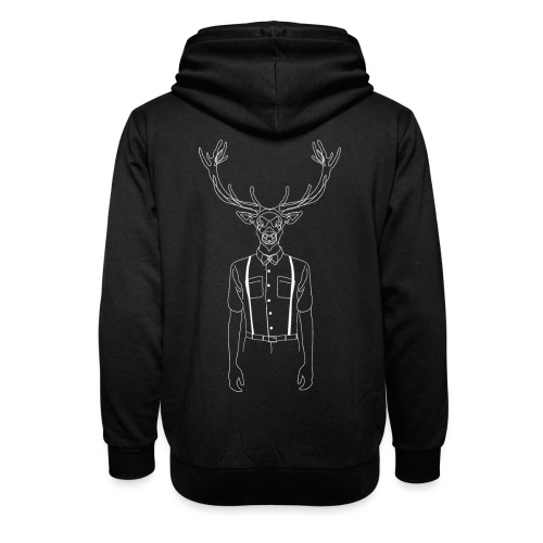 Hipster Stag - Unisex Shawl Collar Hoodie