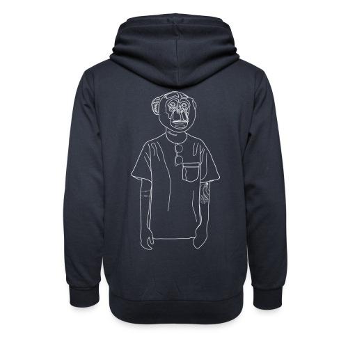 Hipster Monkey - Shawl Collar Hoodie