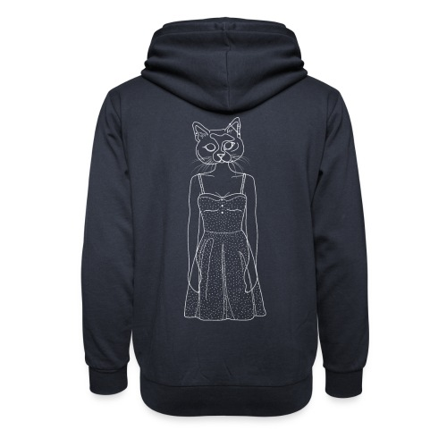 Hipster Cat - Shawl Collar Hoodie