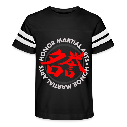 Honor Martial Arts Kanji Design Light Shirts - Kid's Vintage Sport T-Shirt