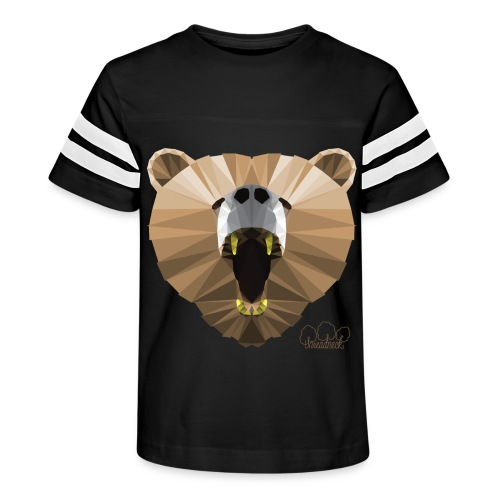 Hungry Bear Women's V-Neck T-Shirt - Kid's Vintage Sport T-Shirt