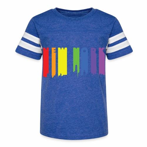 New York design Rainbow - Kid's Vintage Sport T-Shirt