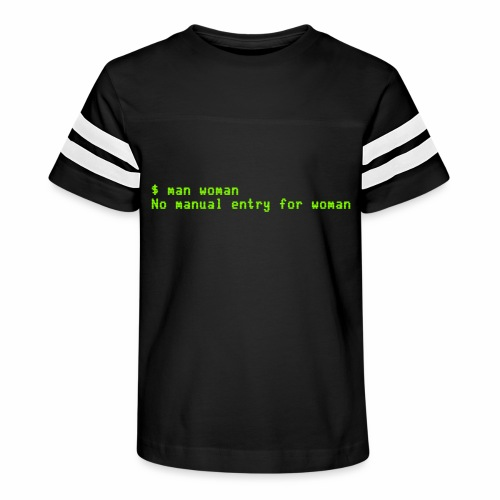 man woman. No manual entry for woman - Kid's Vintage Sport T-Shirt