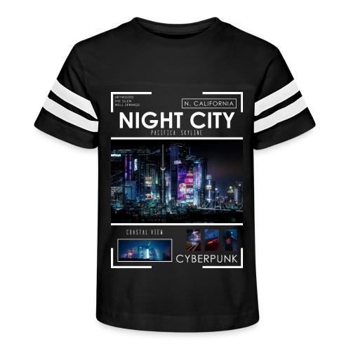 Night City Pacifica Skyline - Kid's Vintage Sport T-Shirt