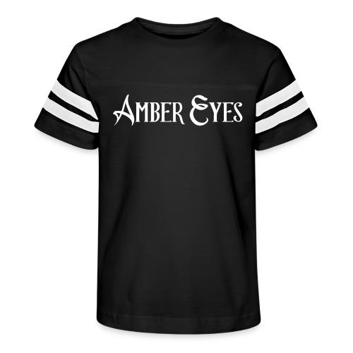 AMBER EYES LOGO IN WHITE - Kid's Vintage Sport T-Shirt