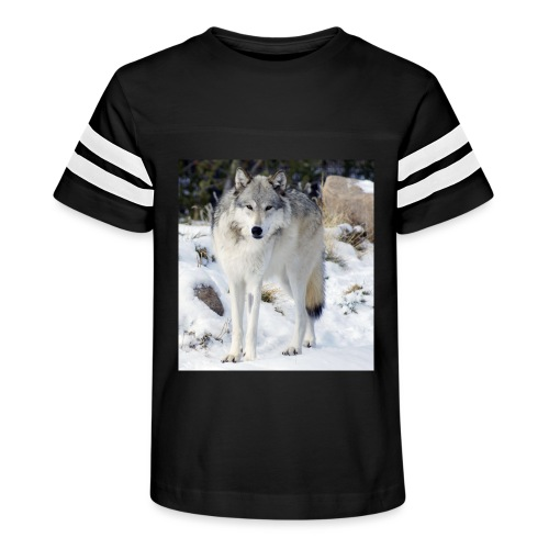 Canis lupus occidentalis - Kid's Vintage Sport T-Shirt