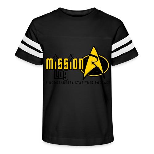 Logo Wide 2 Color Black Text - Kid's Vintage Sport T-Shirt