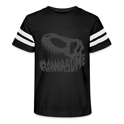 RAWRsome T Rex Skull by Beanie Draws - Kid's Vintage Sport T-Shirt