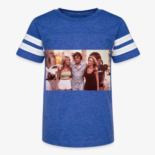Hugh Hefner - Kid's Vintage Sport T-Shirt