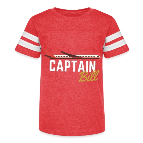 Captain Bill Avaition products - Kid's Vintage Sport T-Shirt