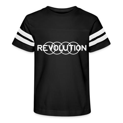 White Revolution Logo - Kid's Vintage Sport T-Shirt